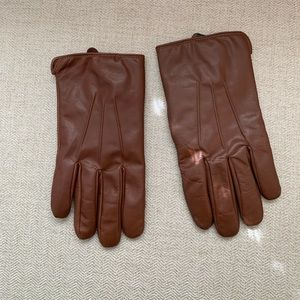 Brown Leather Jos. A. Bank gloves